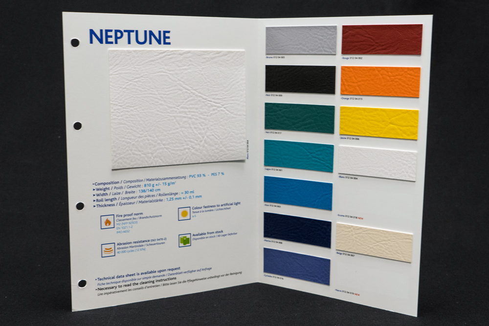 """Nuancier """"Neptune"""" GRIFFINE COTTING GROUP"""