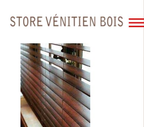 Store vénitien bois La Venitienne