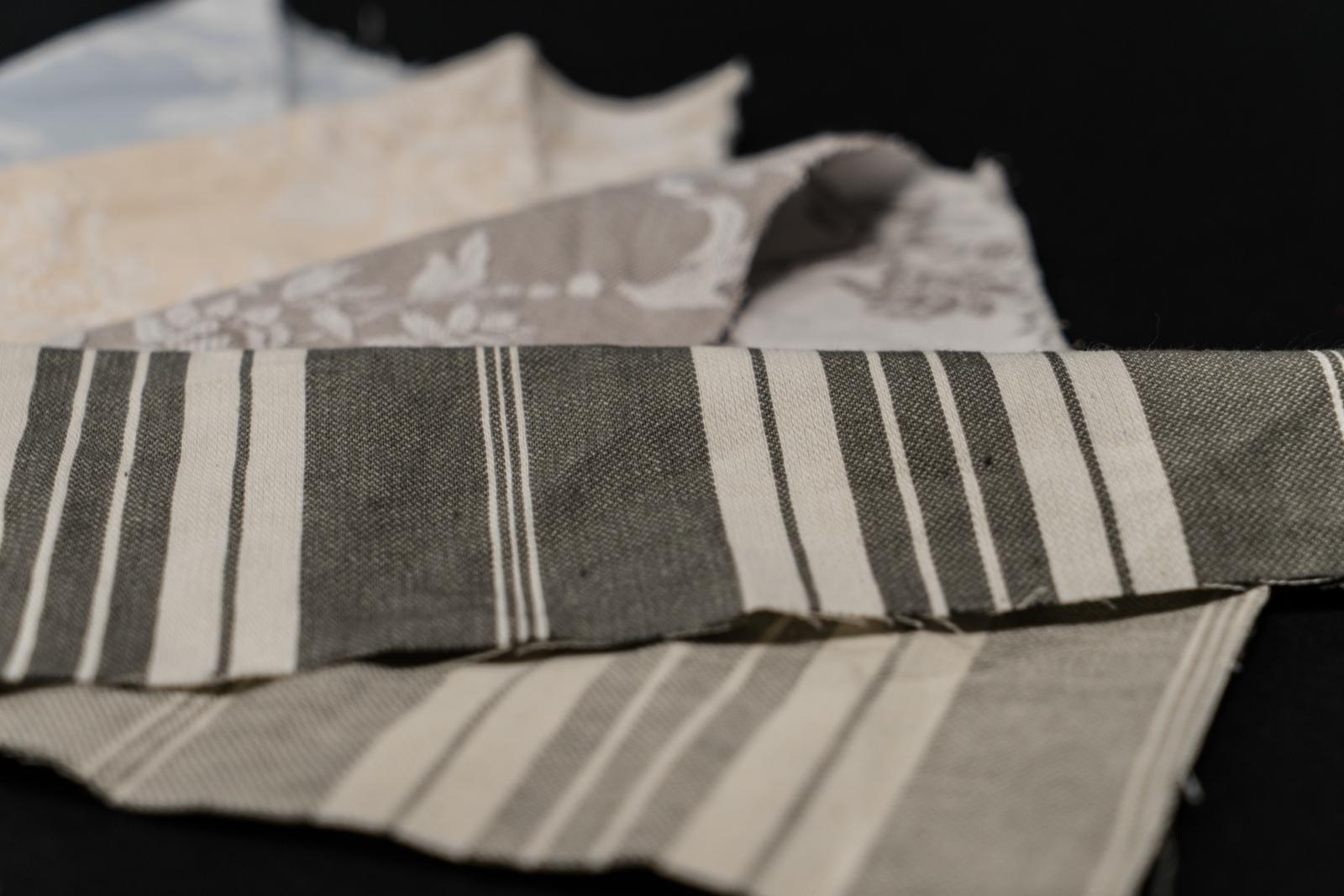Toile à matelas rayée coton 1517