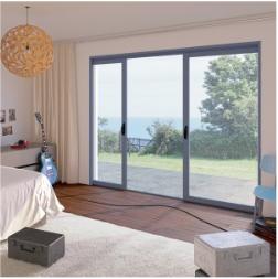 Fenêtre et baie coulissante aluminium ALUSLIDE à galandage