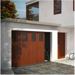 Porte de garage sectionnelle surf latérale